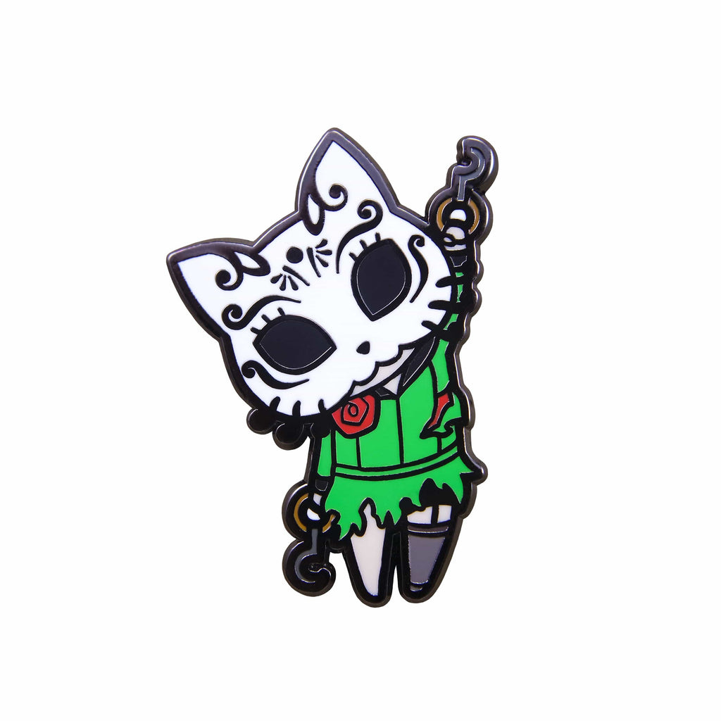 BioShock - Silver Plated Chibi Kitty Splicer Pin