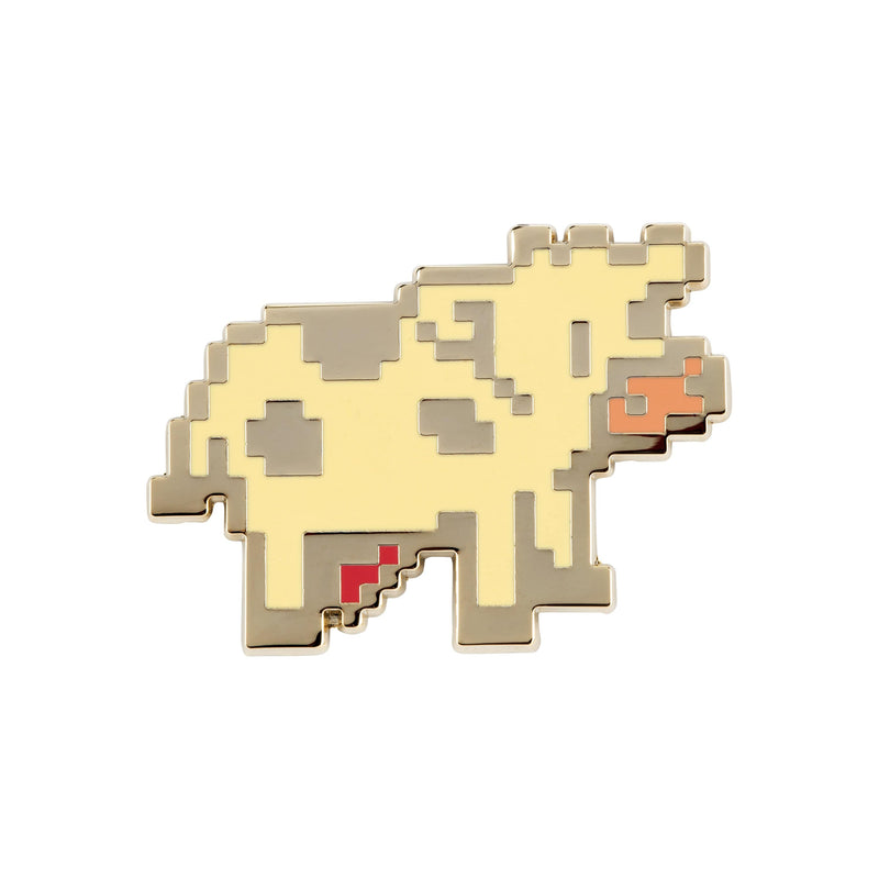 Stardew Valley - Gold Plated Enamel Pixel Cow Pin