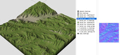Green hills terrain texture collection
