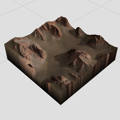 Mountain Pass Terrain Textures