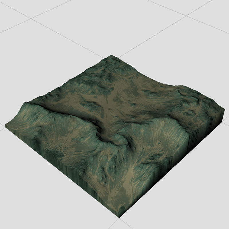 Eroded Green Hills Terrain Textures