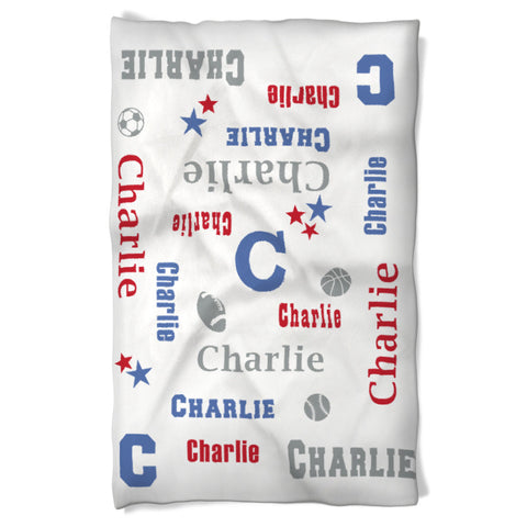 Dog Blanket Personalized Name for your Sport