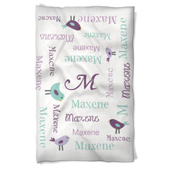 Dog Blanket Personalized with Little Birds