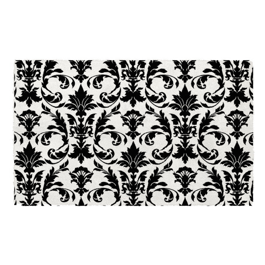 Plush Bath Mat in Your Choice of Damask Color