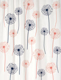Dandelion Fabric Shower Curtain in Your Choice of Two Colors