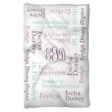 Personalized Baby Blanket Says Hi Baby Girl!