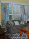 Custom Curtains in Your Favorite Swirled Peas Design! Choose Your Size