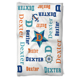 Dog Blanket Personalized Name in Nautical Theme