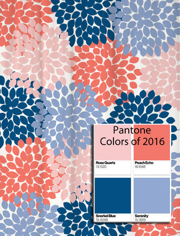 Dahlia Floral Shower Curtain in Pantone Colors of the Year!