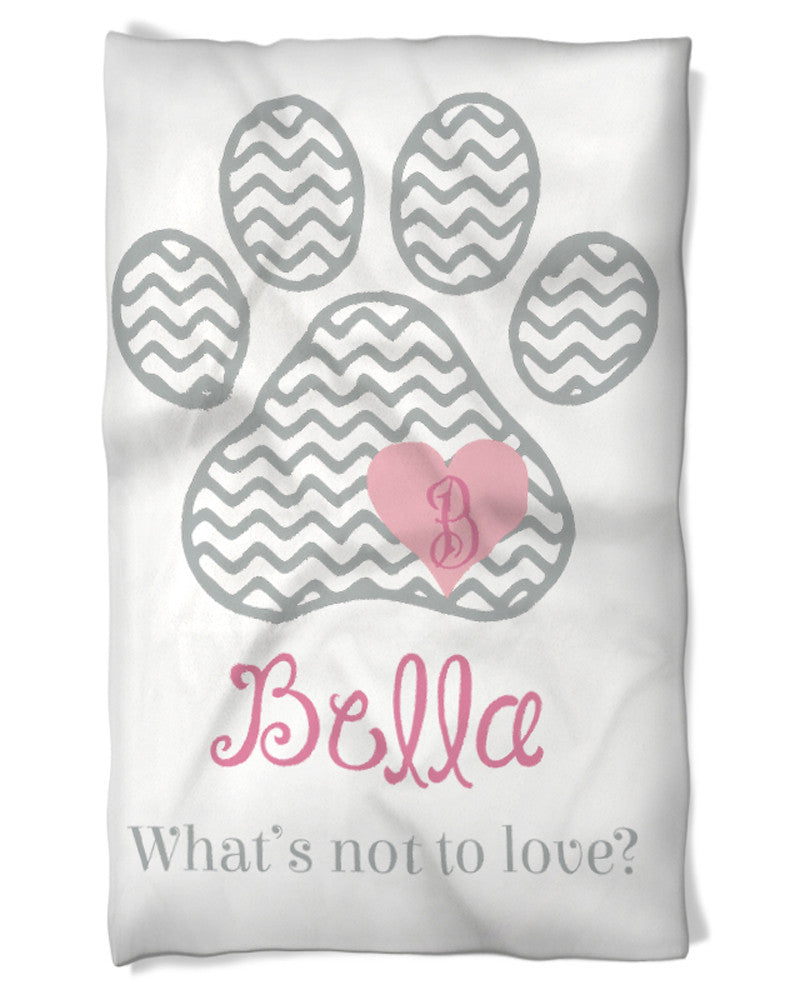 Dog Blanket with Name and Your Statement!