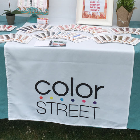 COLOR STREET Vendor Table Runner FREE SHIPPING Swag Banner Large Size 28x72 Logo on BOTH Ends