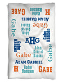 Baby Boy Blanket Features Baby's Name