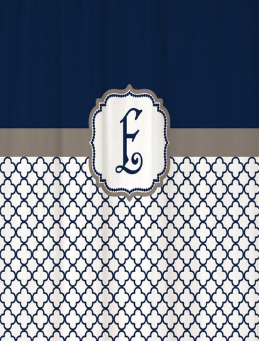 Shower Curtain Lattice Monogrammed for You