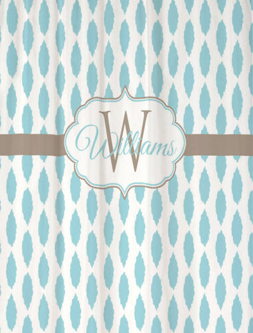 Shower Curtain Ikat Personalized with Your Name!