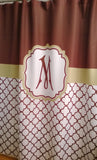 Shower Curtain Lattice Monogrammed in Your Colors!