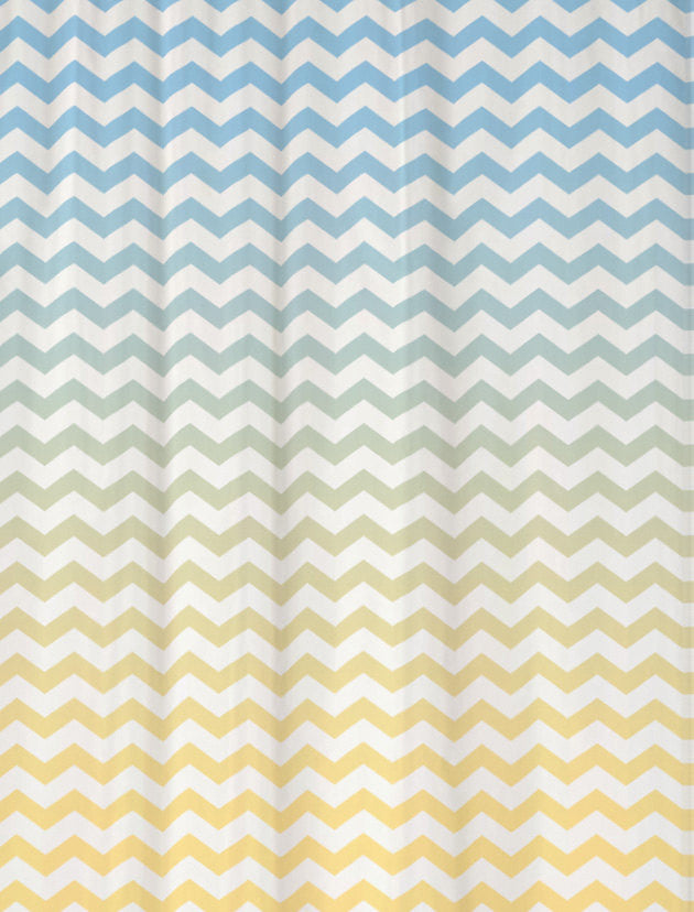 Shower Curtain in Two Tone Ombre Chevron