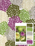 Shower Curtain Purple Green Custom Inspired Floral