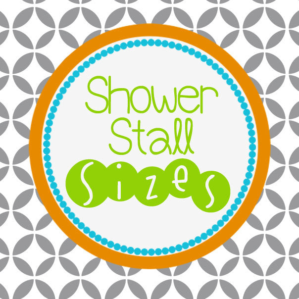 Stall Size Shower Curtains in Your Favorite Swirled Peas Design