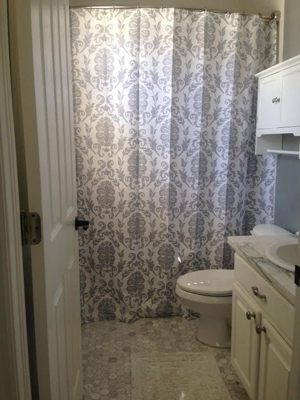 Shower Curtain Damask