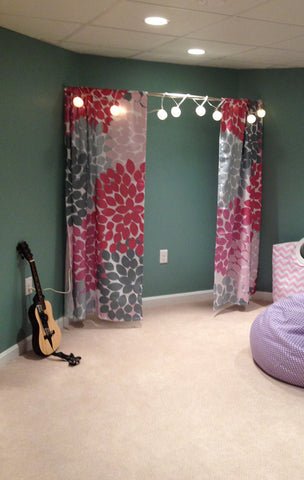 Custom Window Curtains in Your Favorite Swirled Peas Design Choose Pattern, Color & Size