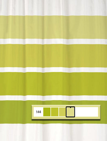 Shower Curtain Rugby Stripe Impetuous Green
