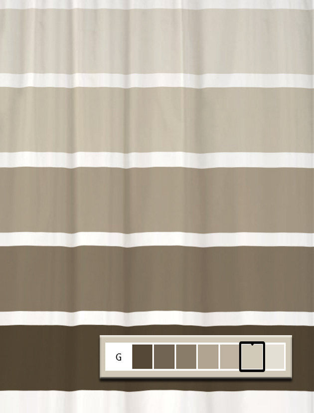 Shower Curtain Rugby Color Block Stripes