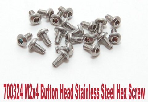 PN Racing M2 Button Head Stainless Steel Screw (20pcs) (Various Lengths & Types)