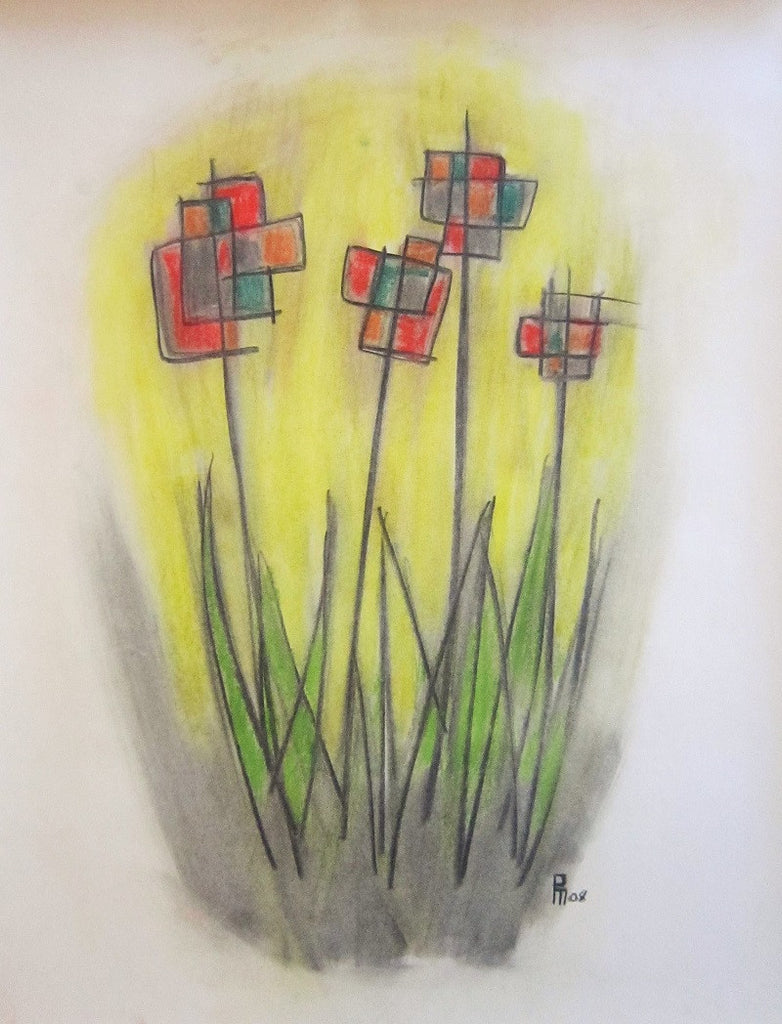 Patrick Maguire Original Art Flowers #1