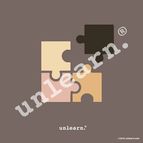 Puzzle piece design that doesnt fit together