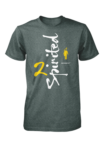 2 Spirited - Unisex Heather Green T-Shirt