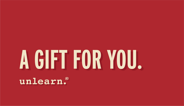 unlearn. Gift card
