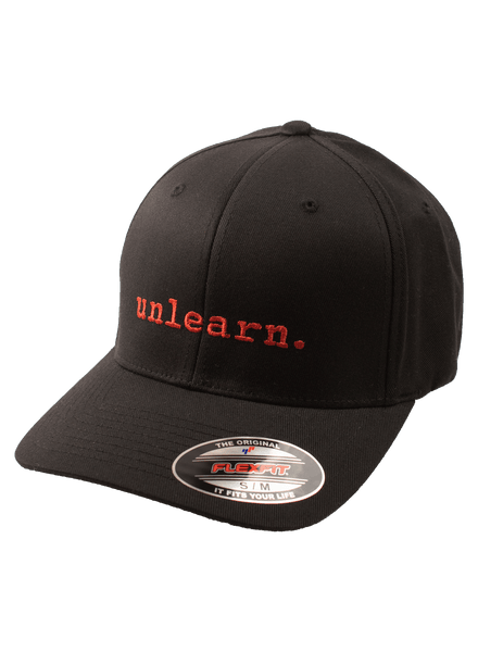 unlearn. - Black Flexfit Hat