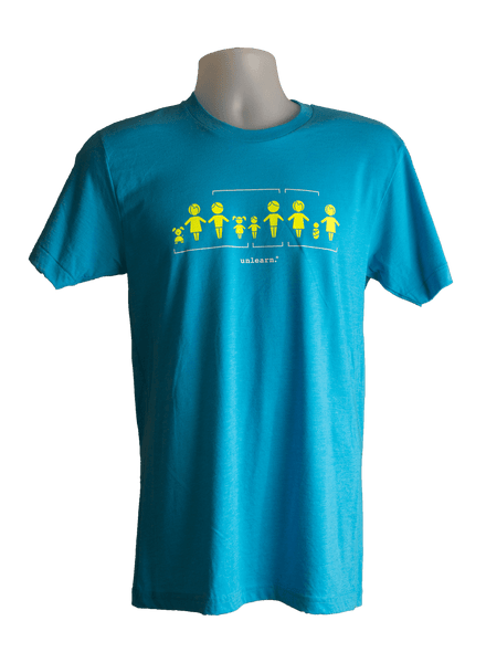 Family - Unisex Neon Blue T-Shirt