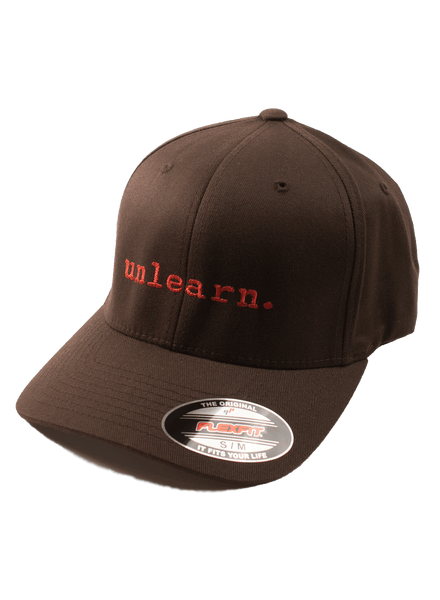 unlearn. - Brown Flexfit Hat