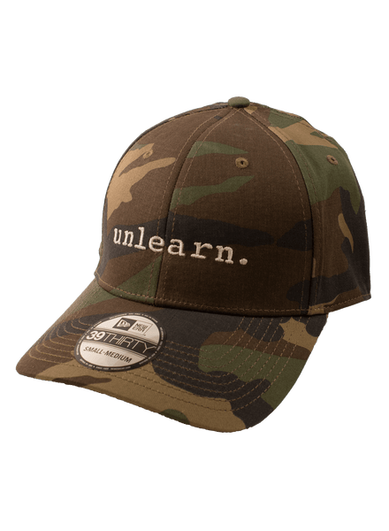 unlearn. Camo New Era Fitted Hat