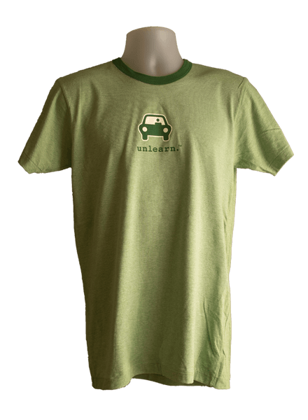 Green Car - Unisex Green Ringer T-Shirt
