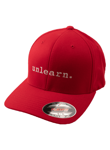 unlearn. - Red Flexfit Hat