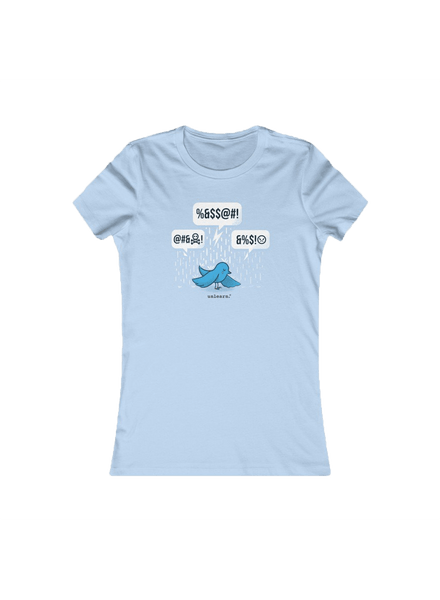 Blue Bird - Women's Fitted Tshirt