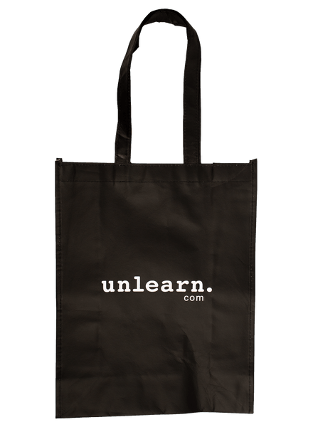 unlearn. Black Tote Bag