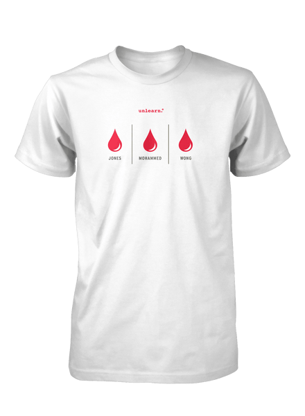 Blood - Unisex White T-Shirt