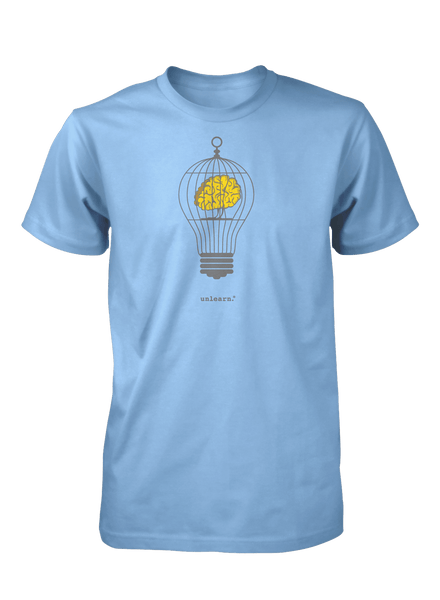 Caged Brain - Unisex Light Blue T-Shirt