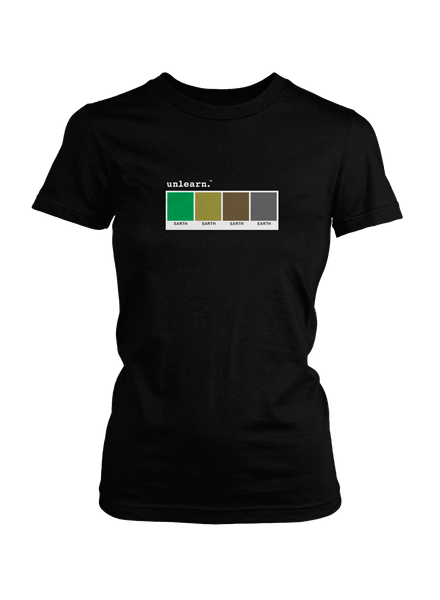 Earth - Women's Black T-Shirt