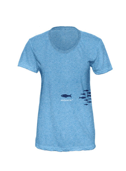 Fish - Women's Blue T-Shirt