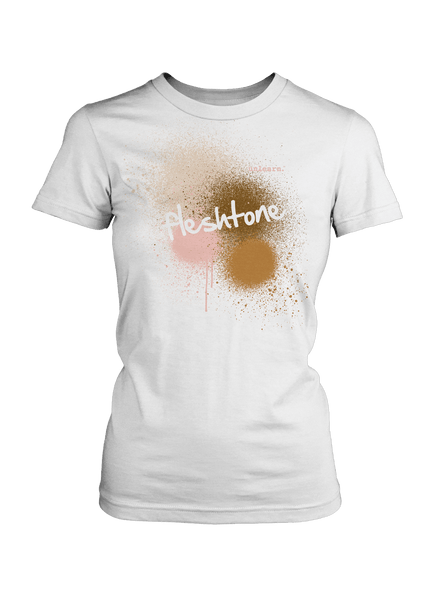 Fleshtone Spraypaint - Women's White T-Shirt