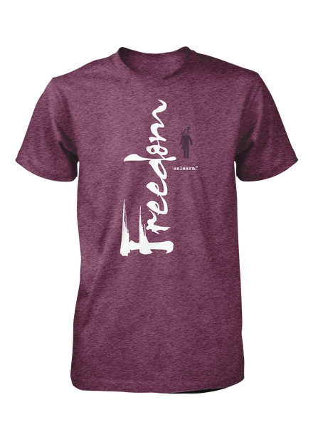 Freedom - Unisex Heather Plum T-Shirt
