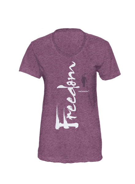 Freedom - Women's Heather Plum T-Shirt