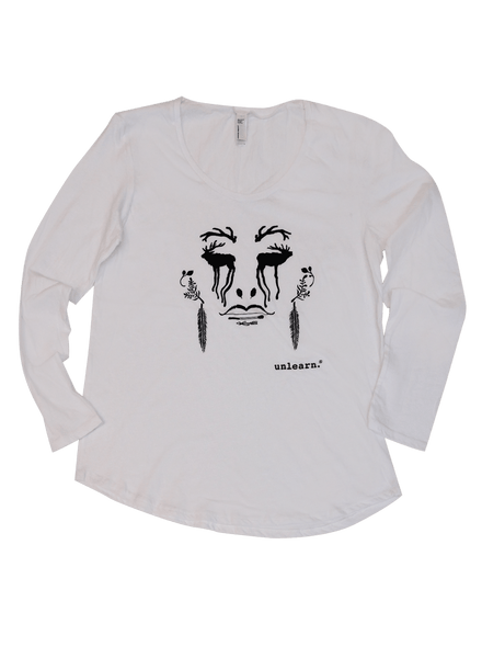 Hope and Despair - Women's Long Sleeve White Scoop Neck