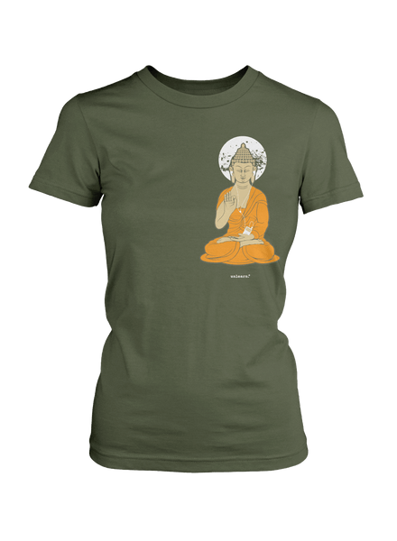 iPod Buddha - Women's Green T-Shirt