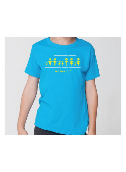 Family - Kids Neon Blue T-shirt