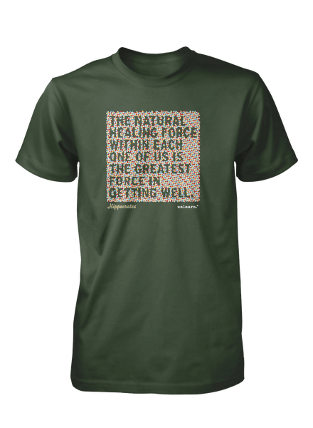 Natural Healing - Unisex Olive Green T-Shirt